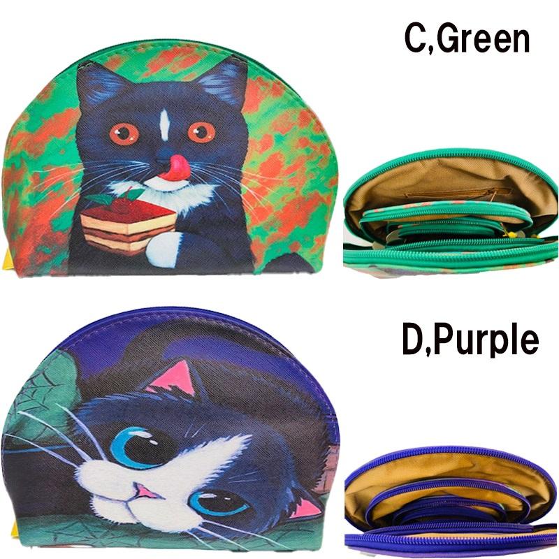 ポーチ 4連ポーチ 猫柄