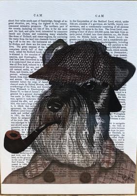 Sherlock Schnauzer グリーティングカード
