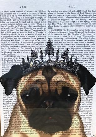 Prince Pug   グリーティングカード