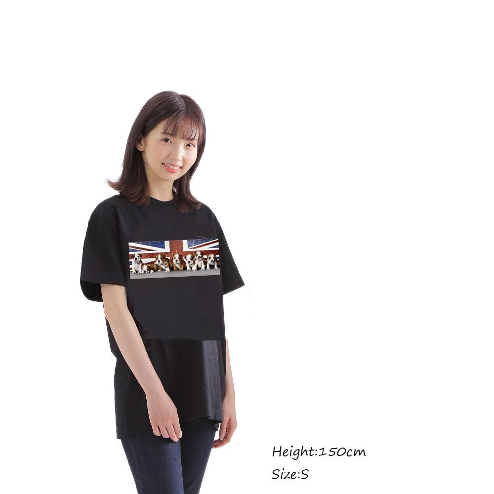 tシャツ ユニオンジャック ブルドッグ 子犬 Tシャツ