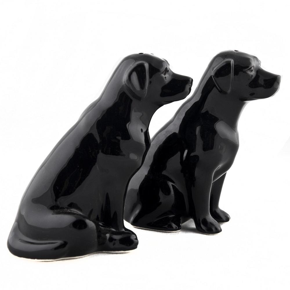 陶器製ドッグオーナメント ラブラドール 黒ラブ