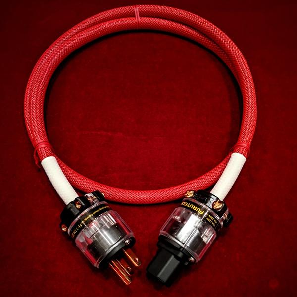 【オリジナル電源ケーブル/1.25m】DDD-1aFT(Cu)R赤/1.25m 電源ケーブル FURUTECH FP-220Ag/FI11CU/FI11MCU