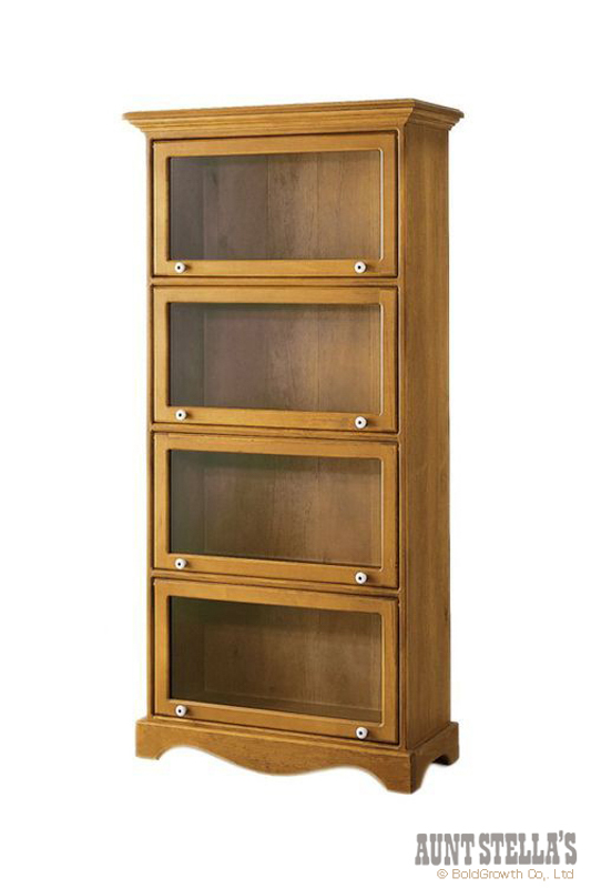 4 Doors Glass Bookcase 4ドアガラスブックケース