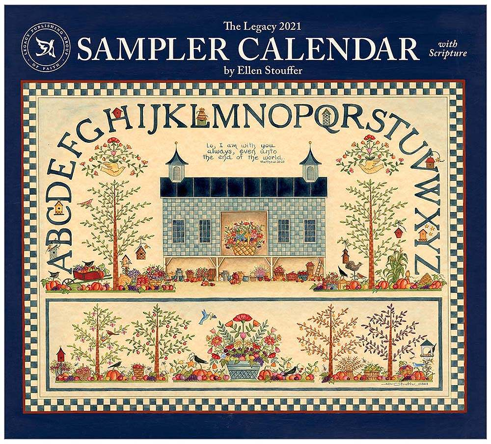 2021 SAMPLER CALENDAR ウォールカレンダー
