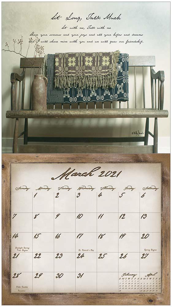 2021 SIMPLE TREASURES ウォールカレンダー