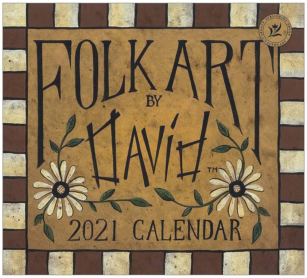 2021 FOLK ART BY DAVID ウォールカレンダー