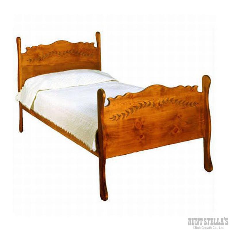 Single Sleigh Bed シングルスレイベッド