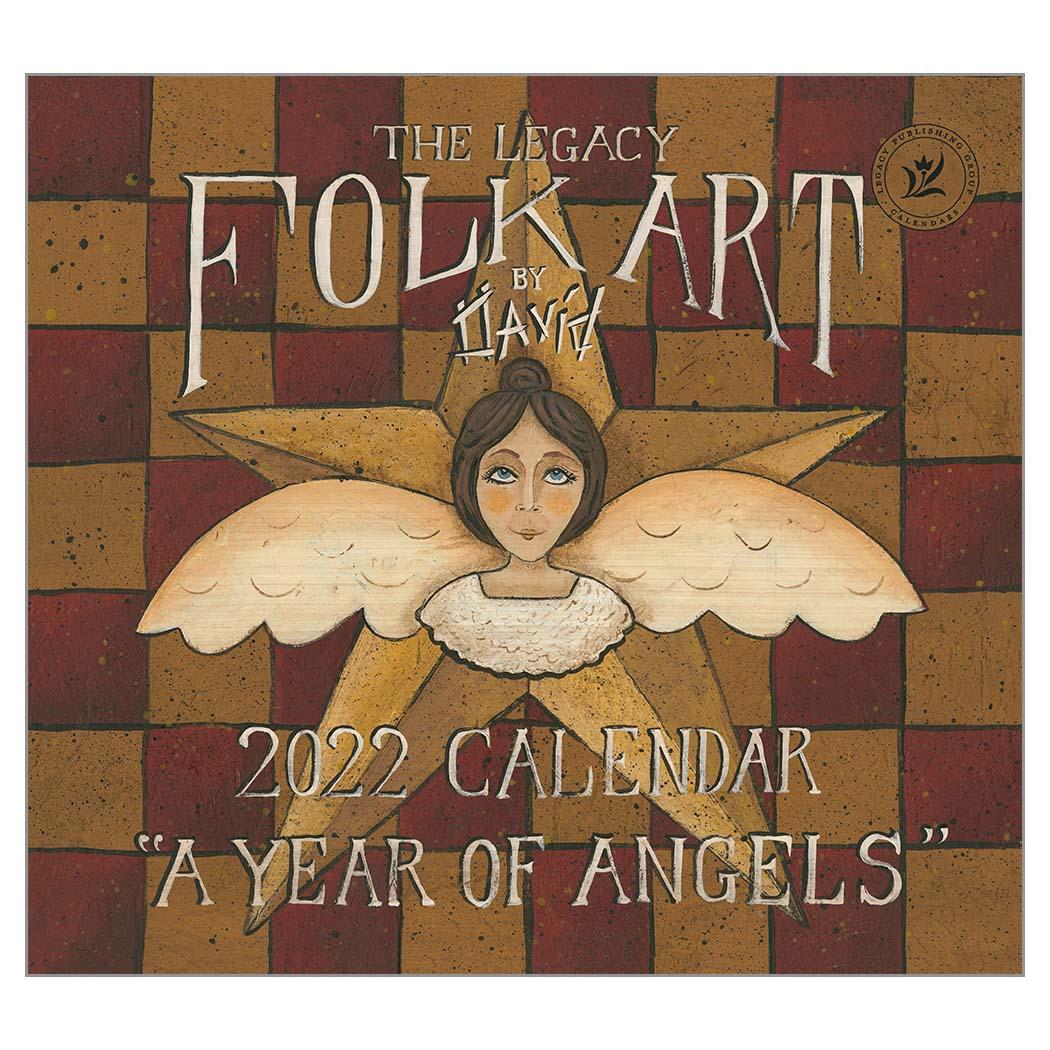 2022 FOLK ART BY DAVID ウォールカレンダー