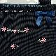 【HandMade】濃紺 ナイロンオックスのランチ保冷バッグ【小花刺繍&紺リボン】LCB-FS03