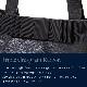 黒革の縦型トート【トリプル・グログランリボン】 黒 お受験サブバッグ KTT-5HC