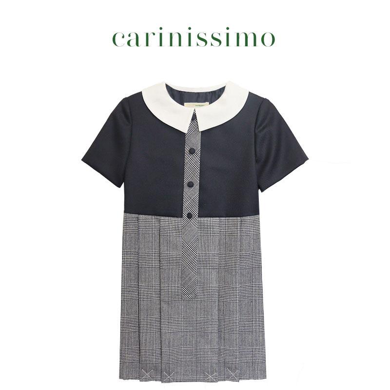 【carinissimo カリニッシモ】 スクエア襟ワンピース COK-CK1