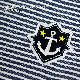 ブルーボーダー柄キャンパスバッグ【いかりワッペン】BD-LSB-WP01