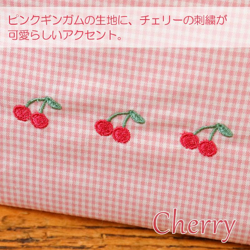 ギンガムチェックの保冷ランチバッグ【チェリー】LCB-CL02