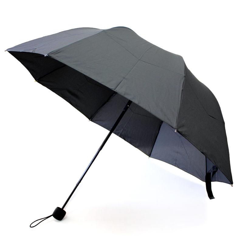 【晴雨兼用】深張UV折り畳み傘 ブラック【ポーチ付き】MUM-BK