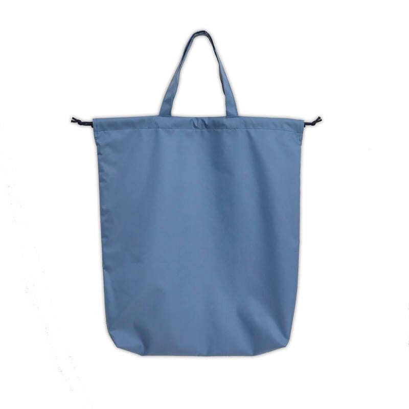 【抗菌・防臭】ナイロンの中仕切り巾着 【無地】 ブルー NY-2SKBL