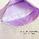 【抗菌・制菌】 ハートモチーフ刺繍とミニリボンのファスナーポーチ パープル 【大サイズ】 FPO-PPHEART02