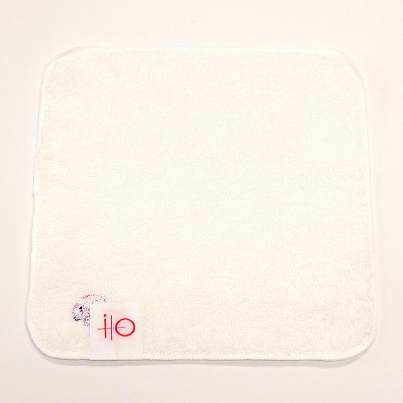 ワンポイント刺繍入りタオルハンカチ【18cm】 EBS-T18-W01