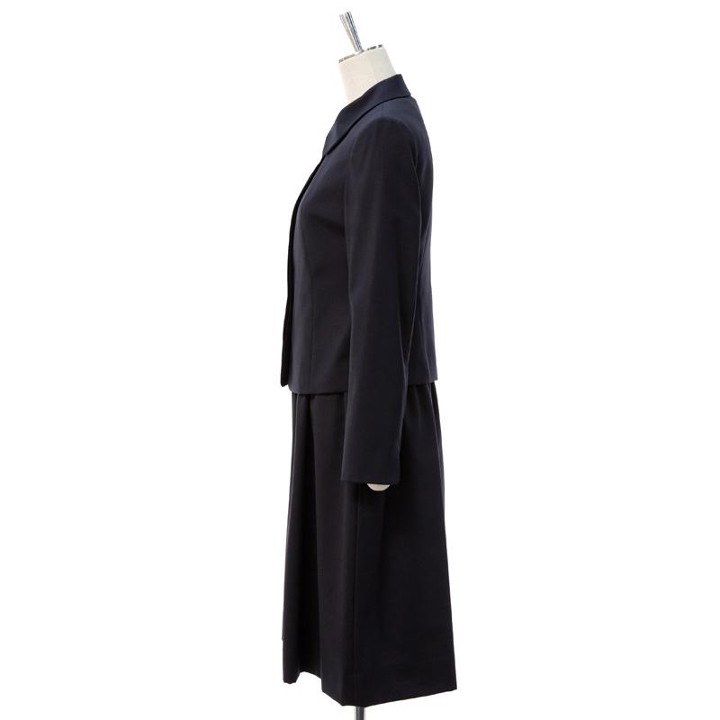 【9号】比翼仕立てジャケット+襟付きギャザースカートふんわり ワンピース【180916/AKI-160713】お受験服&学校訪問服