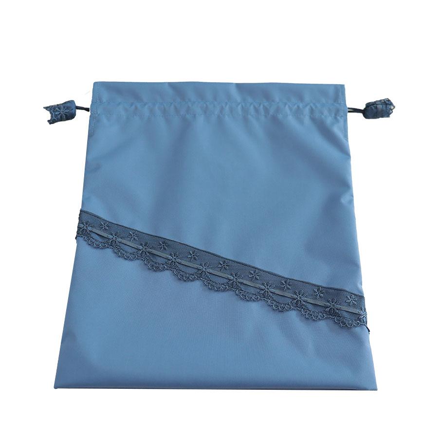 【抗菌・防臭】ナイロンのブルーレース巾着 NY-SK-BLC01
