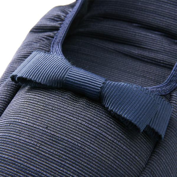 【スリッパポーチ付】3.5cmヒール付き携帯スリッパ ルームシューズタイプ 【紺】 グログラン・ミニリボン KS35C-NS10