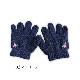 手刺繍入り 裏起毛手袋 【ネイビー】 GLO-NV-01