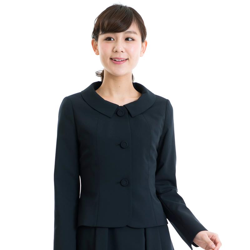 【5〜11号】スクエアショールカラージャケット+襟付きギャザースカートふんわり ワンピース【160833/AKI-160713】