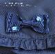 濃紺 ナイロンのフリルリュック【手刺繍リボン】RUC-NSS03