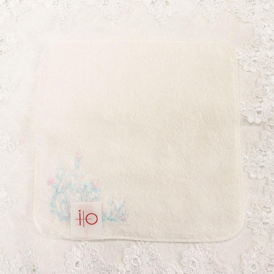 【プチオーダー】イニシャルフラワーのタオルハンカチ【18�】DOME-IT-IF01