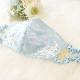 【受注生産品】 リボンレースモチーフのブライダルマスク <ブルー> WD-MSKBL01