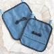 【抗菌・制菌】 ナイロンの移動ポケット グログランミニリボン ブルー TP-NR-BLR01 大・小サイズ