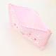 ファスナーポーチ 手刺繍ローズとピンクコードレーン 小サイズ FPO-PI01