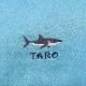 【-色彩感覚を育てる- COLORFUL Kirsch*】 <受注生産品 3週間前後> ちりめんランチアイテム Sharkとお名前刺繍 水色 単品売り ORD-L-SHARK