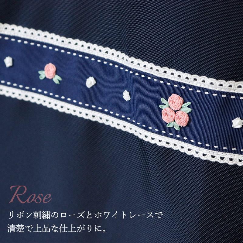お母さまのお迎えランドセルバッグ 【手刺繍ローズ】RB-HS01