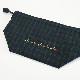 チューリップ刺繍のブラックウォッチ柄ランチアイテム LCS-BW01
