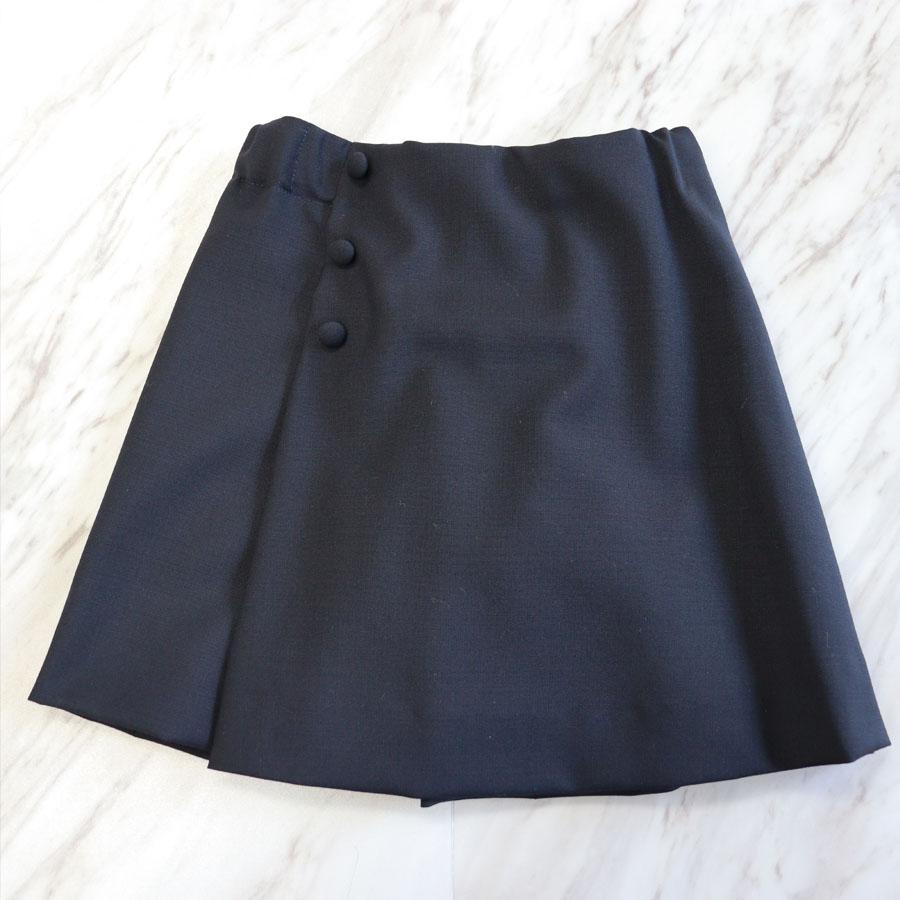 【carinissimo カリニッシモ】 濃紺キュロットスカート 110� CA-CYU15