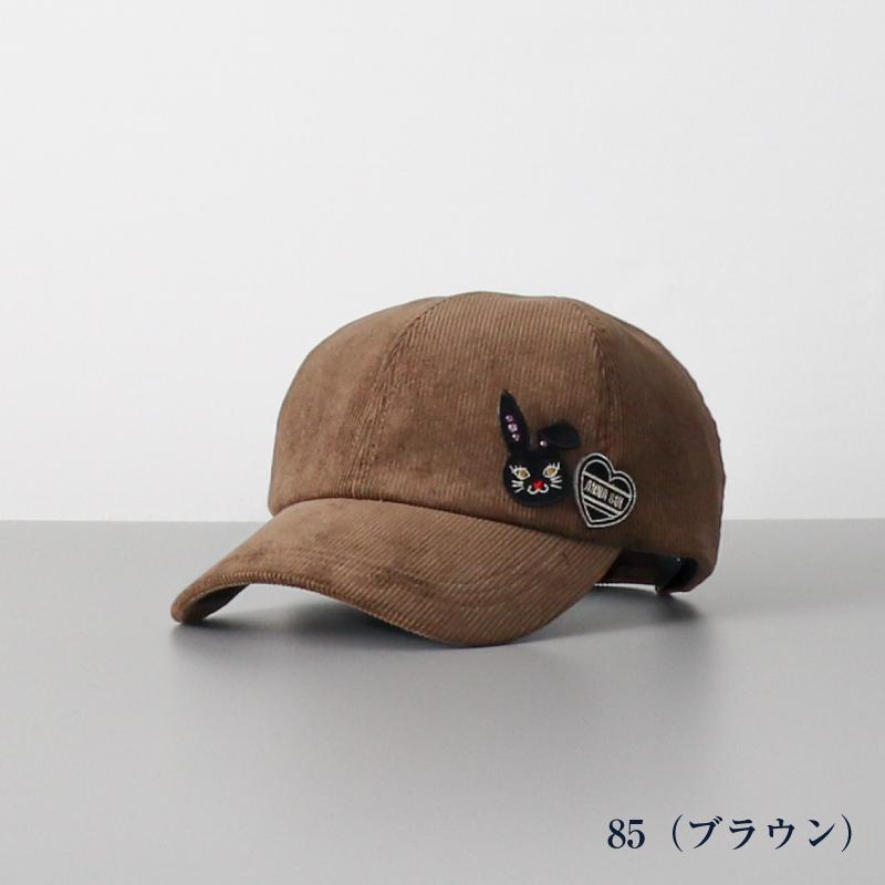 【 ANNA SUI(アナスイ)】 コーディロイワッペン付きキャップ