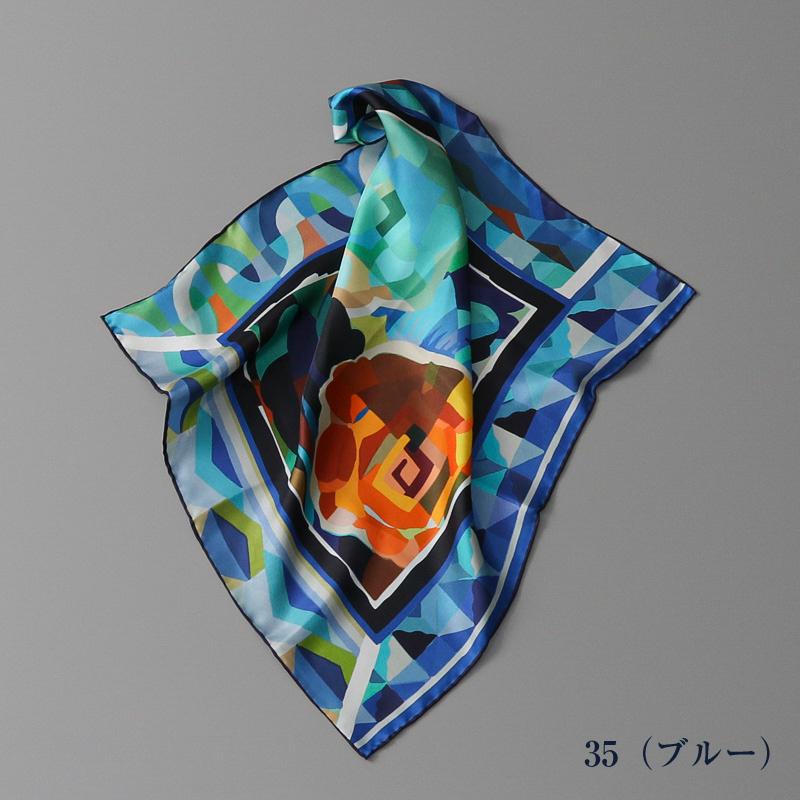 【 V&A(ブイアンドエー)】 シルクツイルエドゥアール・ベネディクトス柄プチスカーフ