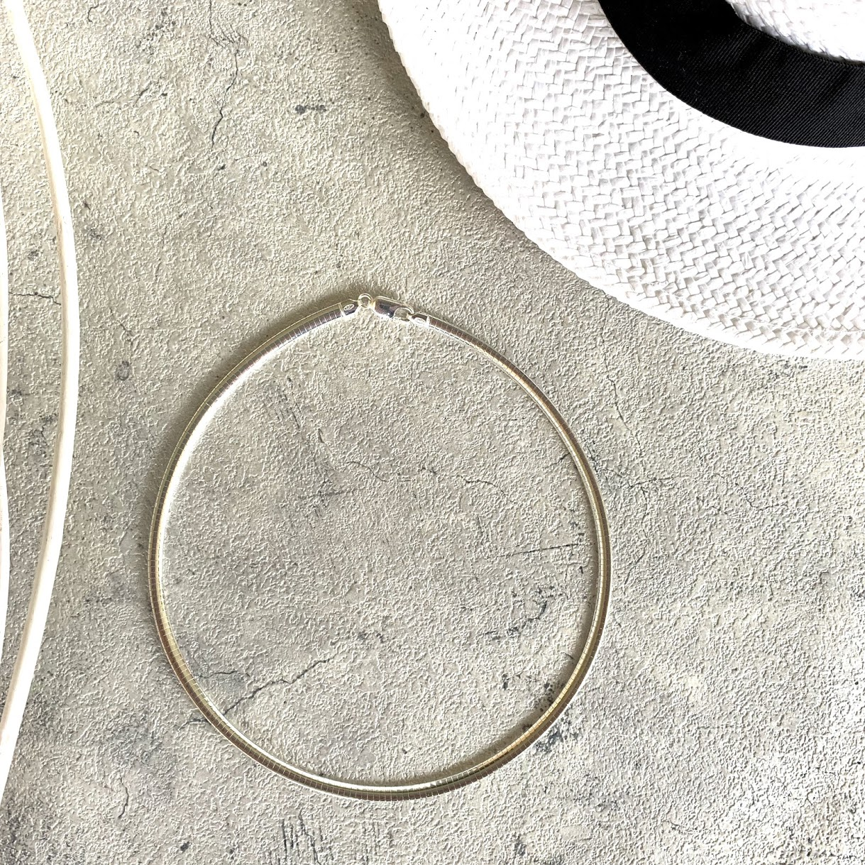 イタリア製 シルバー925 オメガネックレス