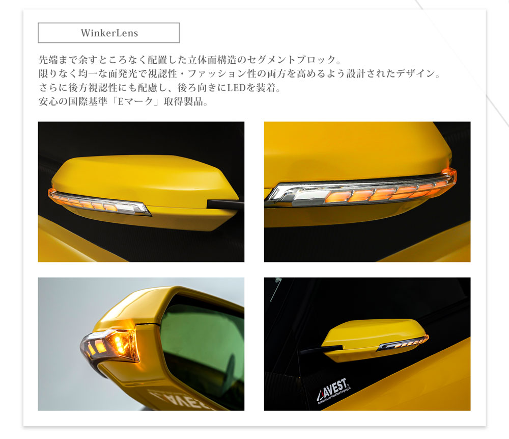 流れるウィンカー HONDA S660 シーケンシャル機能付流れるドアミラーウインカーレンズ付カバー[未塗装/塗装済 選択]