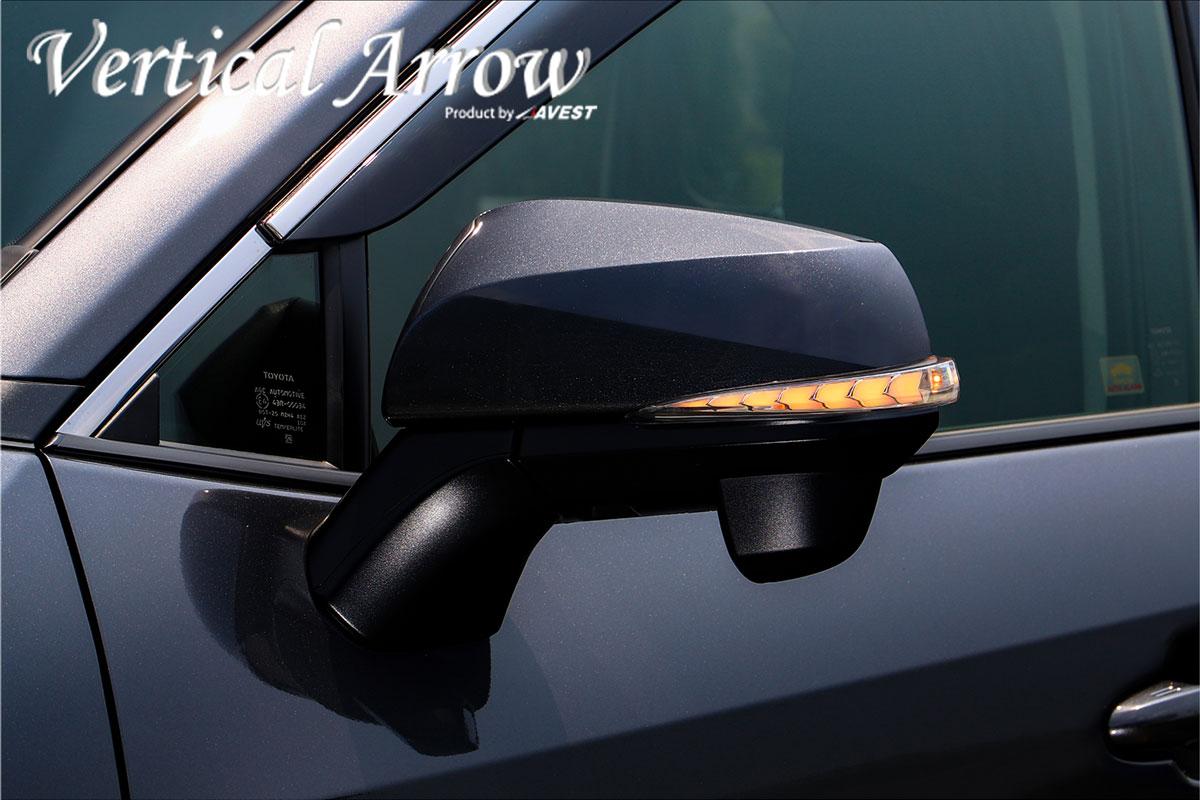 流れるウインカー RAV4 シーケンシャル機能付流れるドアミラーウインカーレンズ