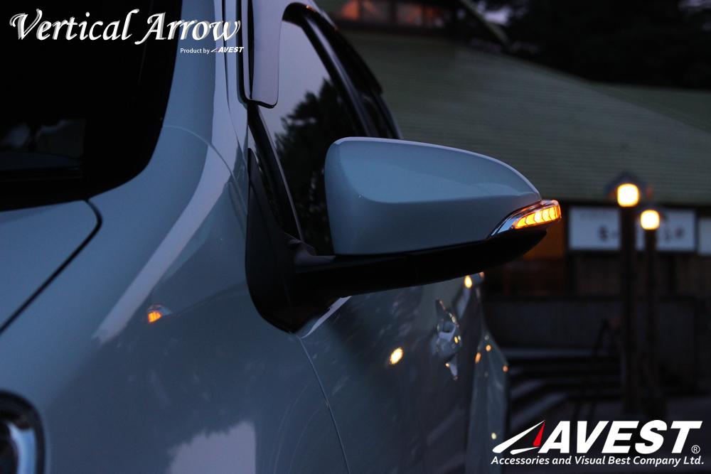 流れるウインカー アクア ヴィッツ AQUA VITZ シーケンシャル機能付流れるドアミラーウインカーレンズ
