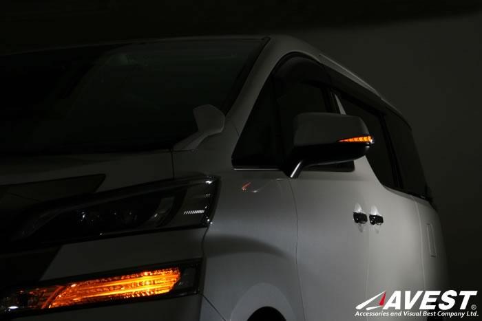 [Vertical Arrow Type Zs]アルファード alphard 30系 ヴェルファイア vellfire 30系 流れる LED シーケンシャル ドアミラー ウインカー レンズ