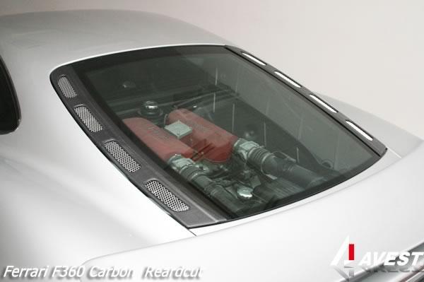 フェラーリ Ferrari F360 モデナ カーボン リア エンジンハッチダクト