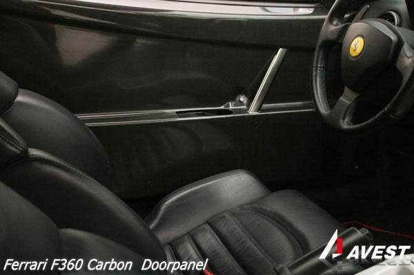 フェラーリ Ferrari F360 モデナ カーボン ドアパネル チャレストLook