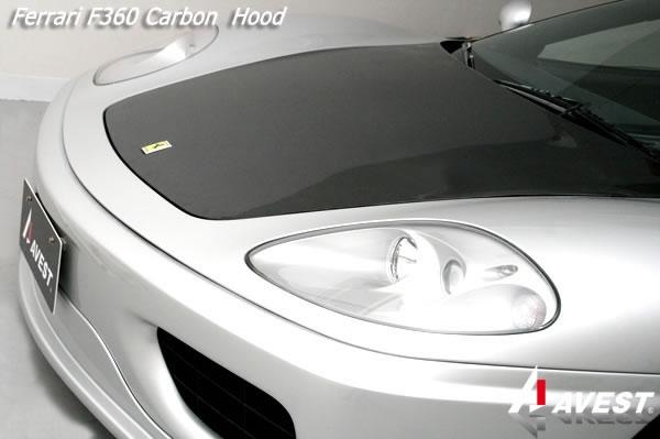 フェラーリ Ferrari F360 モデナ カーボン ボンネットフード