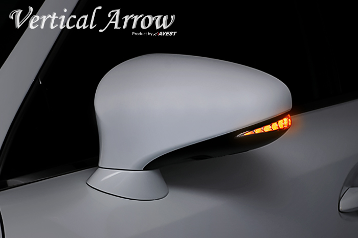 [Vertical Arrow Type Zs]LEXUS GS/CT/IS/LS/RC LED 流れるドアミラー ウインカー レンズ LS460/LS600 GS350/GS200 IS350/IS300/IS200 CT200 RC200/RC300/RC350