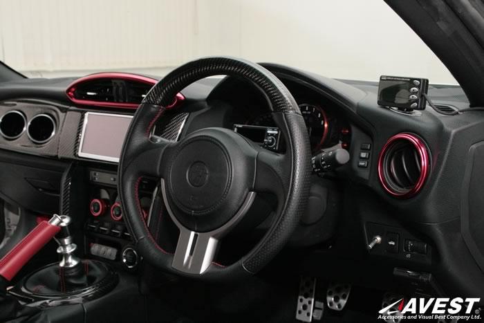 トヨタ 86(ZN6) スバル BRZ(ZC6) エアコン ダクト ベゼル レッド