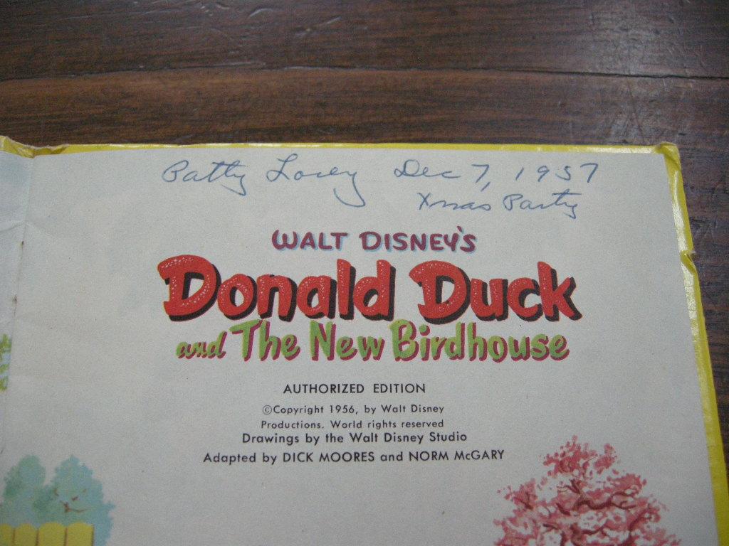 ディズニー ドナルドダック『Donald Duck and The New Birdhouse』 ヴィンテージ英語絵本 1956年発行 フルカラー (ハードカバー) 中古 AB 送料無料