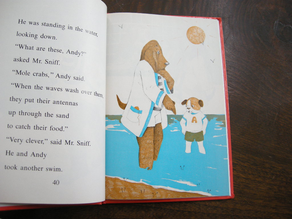 ベスリーウェイナー『MR. SNIFF AND THE MOTEL MYSTERY』ヴィンテージ英語絵本 フルカラー(ハードカバー) 1984年 中古A