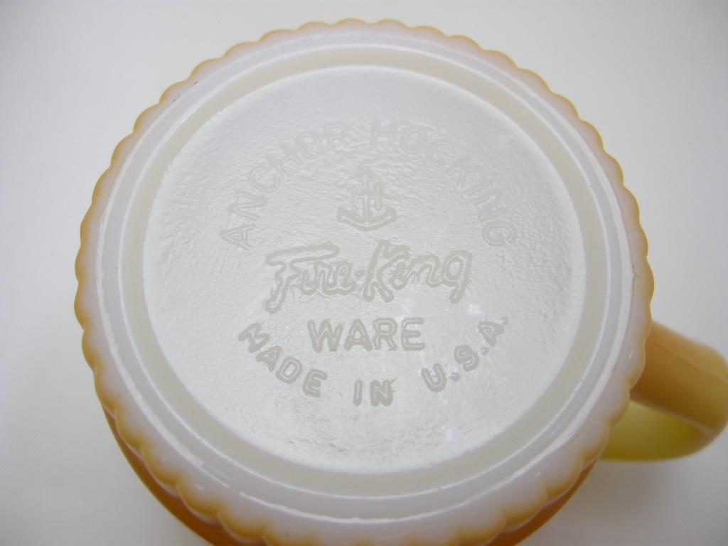 ファイヤーキング スタッキングマグ リブドボトム グラデーション 黄・薄茶 60s A No.358